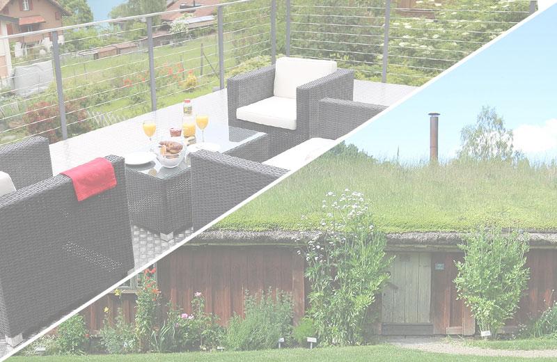 Dachterrasse & Dachbegrünung